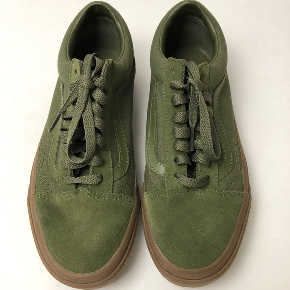 olive green vans mens